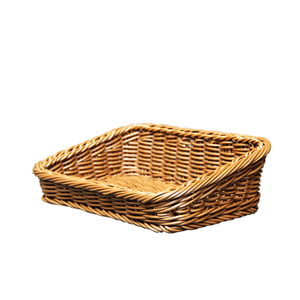 plastic PP rattan display basket for fruit and bread