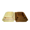 food grade plastic PP rattan display basket for fruit and bread