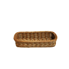 plastic PP rattan display basket for knife and fork
