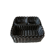 square type PP plastic rattan laundry basket for storage
