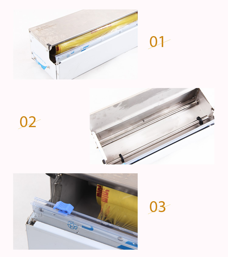 manual cling film wrapping machine for supermarket and retail store